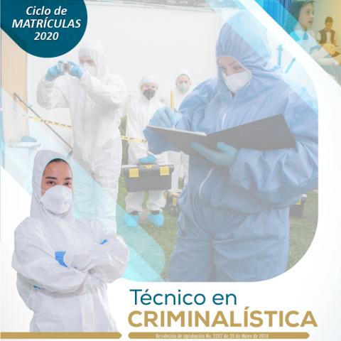 Técnico en Criminalística Escapereira 2020